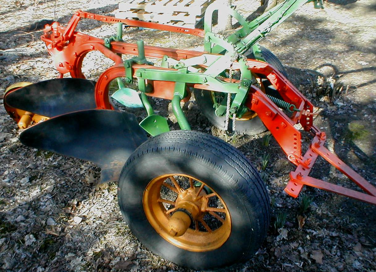 Case two bottom trailer plow